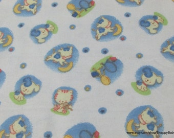 Flannel Fabric - Hey Diddle Diddle - 1 yard - 100% Cotton Flannel