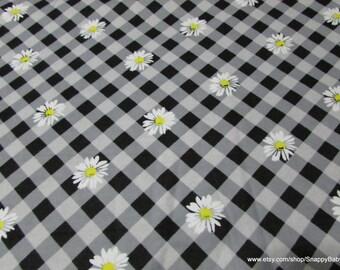 Flannel Fabric - Daisy Gingham - 1 yard - 100% Cotton Flannel