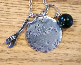 The 100- Raven Reyes Hand Stamped Necklace