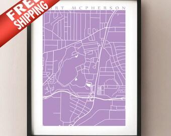 Fort McPherson Map Print - Georgia Poster