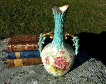 Antique Amphora Vase Turn Teplitz RStK  ART NOUVEAU Vase