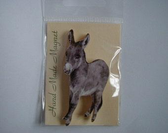 Small Grey Donkey Fridge Magnet