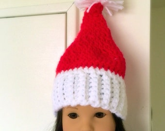 "American Girl Doll Christmas Hat - 18"" Doll Santa Hat"