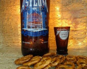 Left Coast Brewery 'Asylum' Belgium Style Tripel Ale Shot Glass & Chaser