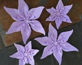 Lavender Purple Set Of 4 Paper Layered Lily Flower Wedding Decoration Favor Card Making Invitation