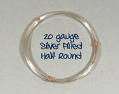 20ga HR DS Half Round Silver Filled Wire - Choose Your Length