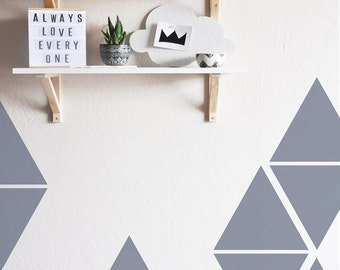 Wall Decal - Large Triangles - Wall Sticker - Room Decor