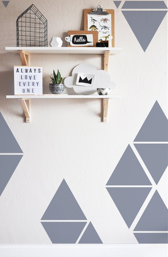 מוצר triangles wall sticker kids wall decal large triangles wall sticker room decor 72841