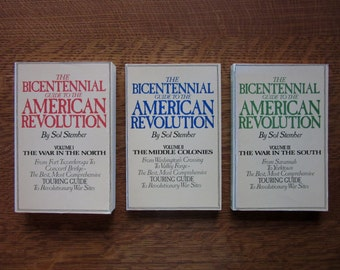 1974 Bicentennial Guide to the American Revolution, 3 Three Book Set, Paperback, U.S. History, Battlefields, Travel Guide, Learning Vacation
