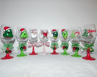Painted Holiday Glasses