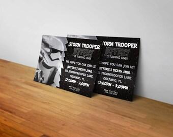 Star Wars Stormtrooper Birthday Invitation! Digital Print.