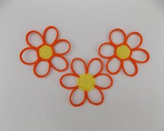 Tutoriel de Fabrication Dessous de verres Marguerites au crochet, sous verres marguerites, fleurs au crochet, tuto marguerite crochetée