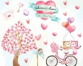 Valentine's clipart, valentine day clipart , Valentines elements  Instant Download PNG file - 300 dpi