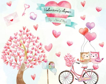 Valentine's clipart, valentine day clipart , Valentines elements  Instant Download PNG file - 300 dpi