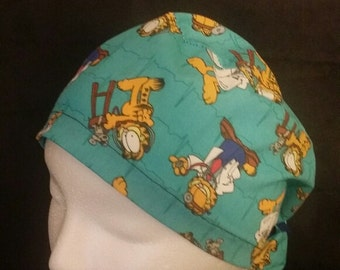 Garfield the Doctor Ponytail Style Surgical Scrub Hat
