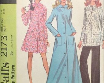 Vintage McCalls Pattern 2173 Misses Robe and Pants Size 14 UNCUT