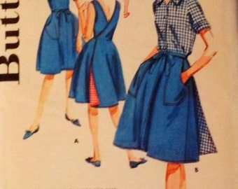 Vintage Butterick Pattern 2745 Misses Jumper, Skirt, Shorts, and Blouse Size 14