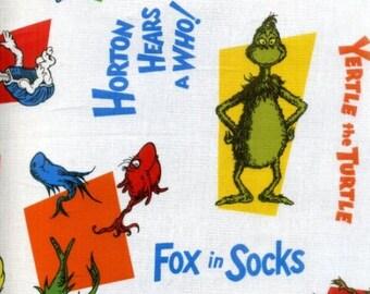 Per Yard, Dr Seuss Got Company LAMINATED Cotton Fabric From Robert Kaufman