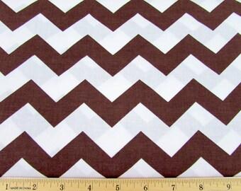 "1"" Chevron Brown Fabric"