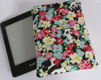 Pandas Hidden In Flowers E Reader /kindle Cover