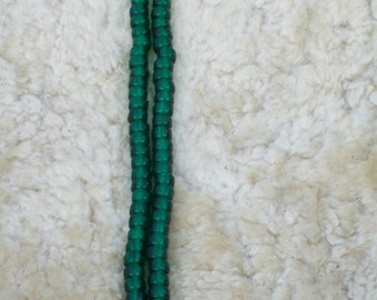 Emerald green 9mm beads , glass beads, India crow beads, transparent beads, crafting beads, decoration beads , for diy craft beads