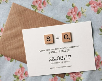 Scrabble initial save the dates