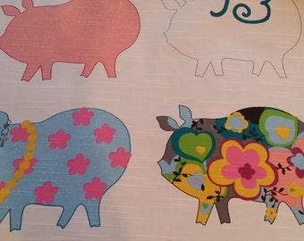 Pig Design wide Fat Quarter
