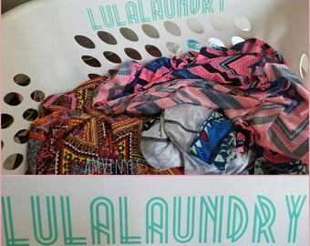 SALE* Lula vinyl laundry basket sticker LLR Roe