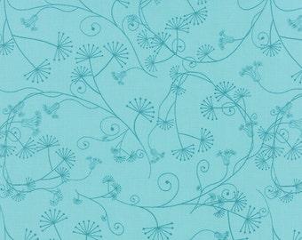 1/2 Yard - Flow - Egeria - Teal - Zen Chic - Brigitte Heitland - Moda - Fabric Yardage - 1592 16