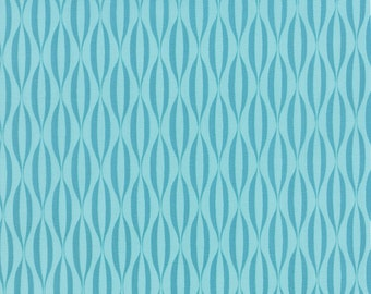 1/2 Yard - Flow - Waves - Teal - Zen Chic - Brigitte Heitland - Moda - Fabric Yardage - 1594 16