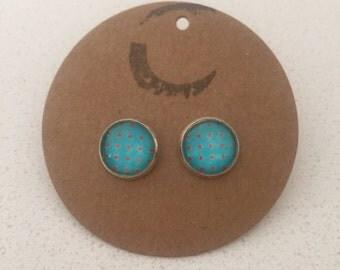 Patterned Glass  Earrings