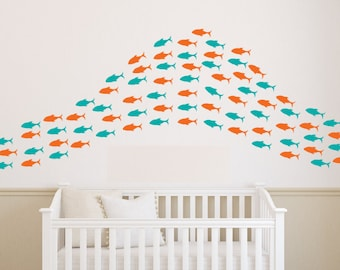 Fish art, fish decal, fish decor, fish decorations, fish wall decal, fish wall art, fish wall decor, fish wall, fish stickers, D00344.