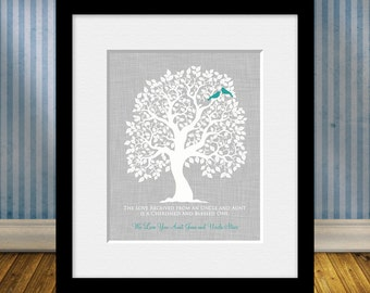 AUNT and UNCLE Gift Print, Personalized Gift for an Aunt and Uncle, Quote for Aunt and Uncle,  Family Tree for Aunt and Uncle