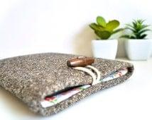 """iPad Case 9.7"""" iPad Pro Case 9.7"""" iPad Pro Sleeve 9.7"""" iPad Pro 12.9"""" iPad Pro - Brown Wool"""