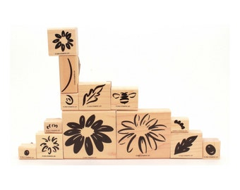 Daisy Rubber Stamps, Definitely Decorative, Stampin' Up, Rubber Stamp Set, Daisies Stamp, Bumble Bee Stmp, Flower Stamp, Flower Petal Stamp