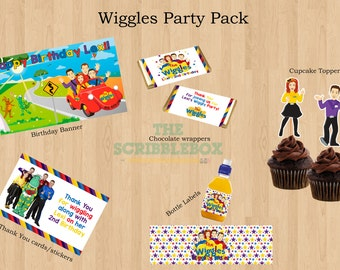 The Wiggles Printable Party Pack