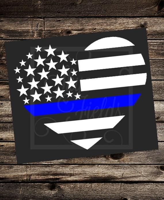 blue lives matter heart united states flag svg jpg png