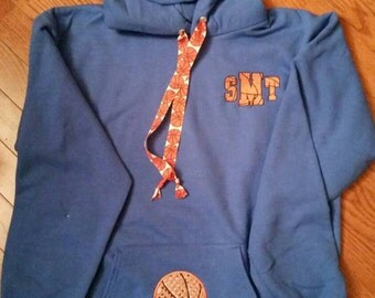Basketball initials hoodie