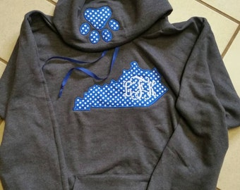 Kentucky outline with monogram