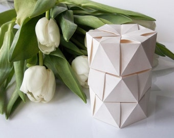 Wedding Favor Boxes, white, pack of three