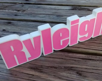 Personalized Names, Desk Name Plate, Custom Nursery Names, Personalized Kids Birthday Party Favor, Kids Names, Photo Props, freestanding