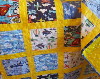 Airplane Flannel Quilt