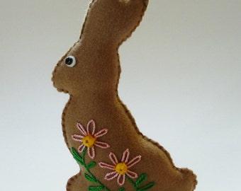 Easter Decoration, Easter Bunny, Felt Bunny, Felt Rabbit, Chocolate Bunny, Chocolate Rabbit, Felt Food, Spring Decoration, Shelf Sitter