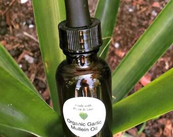 Organic Garlic Mullein Ear Oil