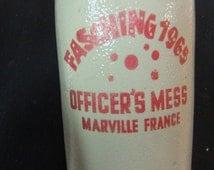Vintage Stein / Tankard / Mug - Officers Mess Munich, Germany - Marville France 1965