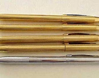 5 Vintage Cross Gold Filled Ballpoint Pens and 1 Silver Tone Pencil LOT