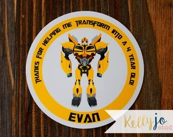 Bumblebee Favor Tags - Bumblebee BirthdayParty - Transformers Bumblebee Favor Tags - Transformers Birthday Party