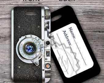 Retro Camera Luggage Tag - Photo CameraTag , ID Travel Tag, Vintage Travel Luggage Tag, Suitcase Tag, Personalized Travel Gift - 020