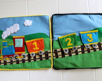 Felt Counting Train with Removable Cars - Things that Go Quiet Book PATTERN