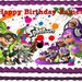 Splatoon Paintball Splatter Edible Cake Topper Image Frosting Sheet - Rectangle and Round Sizes